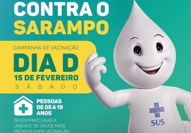 """Dia """"D"""" contra o sarampo será neste sábado (15) em Jacobina"""