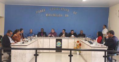 Câmara de Mirangaba suspende sessões e atividades pelo período de vinte dias