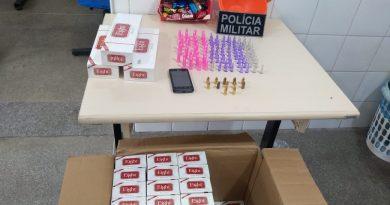 PM prende homem  com pinos de droga dentro de caixa de bombom em Jacobina