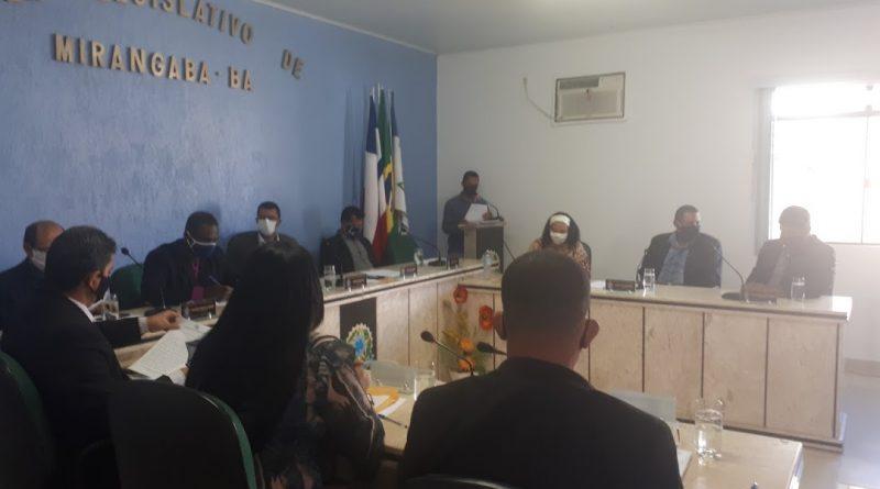 Câmara de Mirangaba aprova Moção de Pesar pelo falecimento do senhor  Manoel Maia